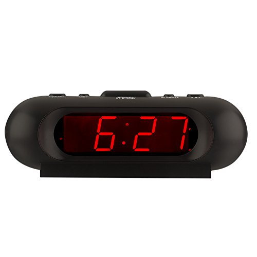 Kwanwa Travel Loud LED Digital Wecker Hohe Lautstärke bis zu 110db Batterie betrieben für schwere...