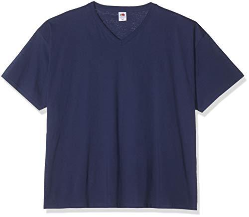 Fruit of the Loom Herren Valueweight V-neck Tee, 5er Pack T-Shirt, Blue (Navy 32), M