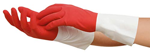 Spontex Perfect Light Haushaltshandschuhe, ideal für alle Reinigungsarbeiten, aus Naturlatex, mit Anti-Rutsch-Profil, zuverlässiger Schutz, Größe M, 2 Paar