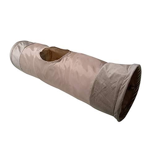 Bilibony Tunel para Gatos, Túnel de Mascotas, Túnel del Gato de Mascotas, Túnel Dragon Rolling (Color : Wheat)
