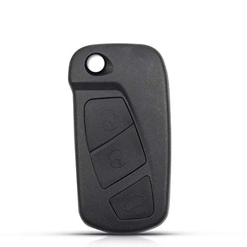 NUIOsdz Reemplazo de la Caja de la Llave Carcasa del Mando a Distancia Carcasa de la Caja en Blanco 3 Botones Carcasa de la Llave del Coche Plegable con Tapa, para Ford KA MK2