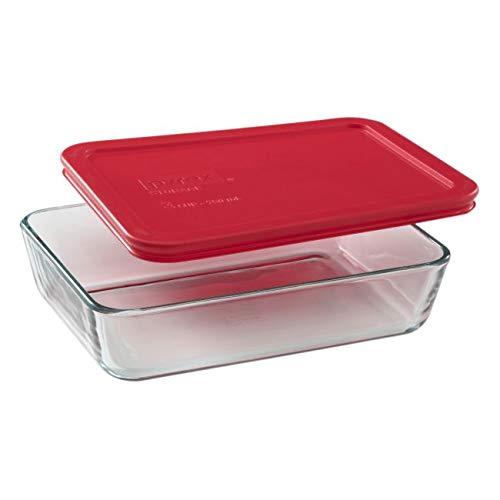 Pyrex Rectangular Food Storage, Red, (6 Pack) Arkansas