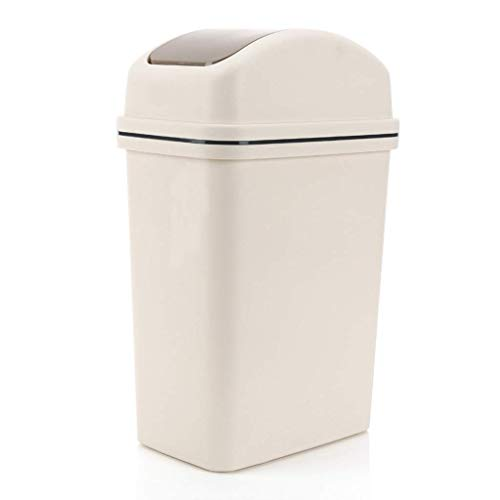 Good dress Cubo de Basura para el Hogar Cubo de Basura con Forma de Concha, Bote de Basura de Plástico Reutilizable, Bote de Basura con Agitación Del Inodoro Del Hogar Del Baño (Bote de Basura Cuadra