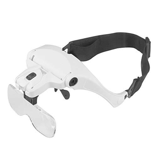LXJLXJ Herramienta de Gafas de Lectura Diadema Lupa Lupa Intercambiable Headwear