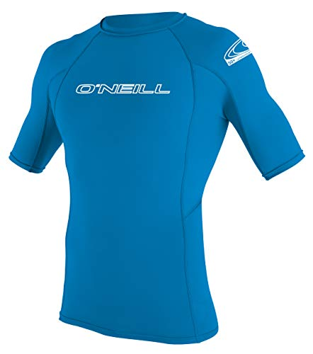 O'Neill Wetsuits Jungen Uv Schutz youth basic skins S/S crew Rash Vest, Brite Blue, 12
