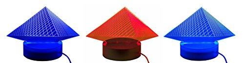 LED USB lámpara de escritorio Gadget Diseño Lámpara Luz de ambiente Luz Lámpara de diseño 3d acrílico Cartel grabado Pyramide Rojo, Morado, Azul