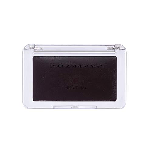 ARTIFUN Savon Coiffant pour Sourcils Teinture 4 Couleurs Noir Marron avec Pinceau à Sourcils Kit de Coiffage pour Sourcils Mise en Forme Pommade CoiffantE