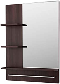 مرآة حائط مستطيلة للحمام ليلانجين- خشب بني غامق