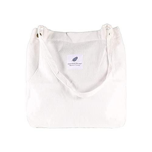 1 Stück Cord Einkaufstasche Damen Schulter Handtaschen Große Kapazität Einkaufstasche für Damen Mädchen Einkaufen Studenten Büro Damen