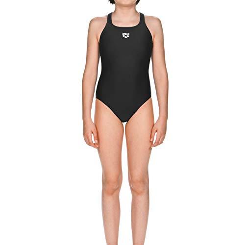 arena Mädchen Sport Badeanzug Dynamo (Schnelltrocknend, UV-Schutz UPF 50+, Chlor- /Salzwasserbeständig), schwarz (Black), 164