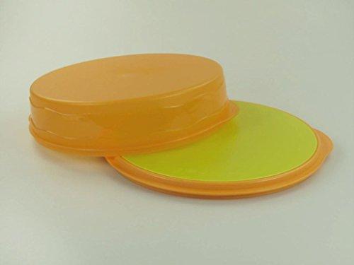 TUPPERWARE Junge Welle Kuchenform rund orange Torty Kuchen +SchneidRunde limette