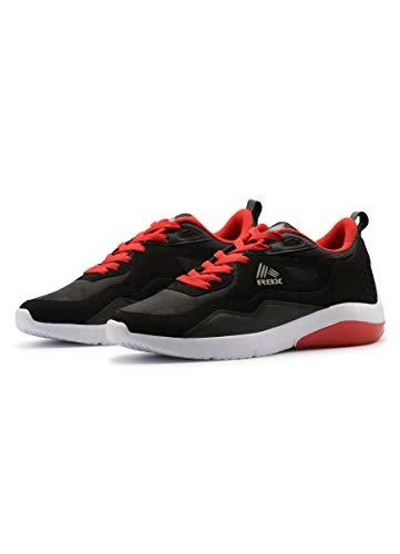 RBX Men's Casual Everyday Shoe, Durable Lightweight Athletic Running Walking Sneaker LSR Black 8.5