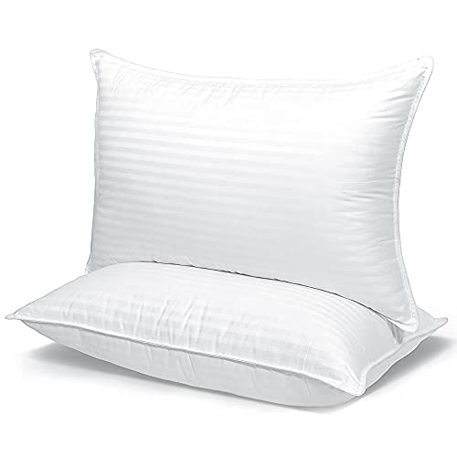 Bed Pillows for Sleeping - King Size - 20 x 36 inches - Set of 2 - Back, Stomach or Side Sleepers - Luxury Hotel Collection Pillow - Skin-Friendly and Cooling
