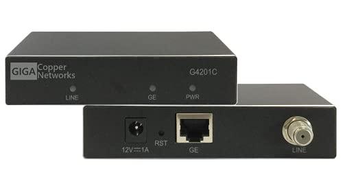 G.hn Wave2 EoC Modem - Gigabit Ethernet Over Coax, Netzwerk über Koaxialkabel (1600 Mbps, Latenz