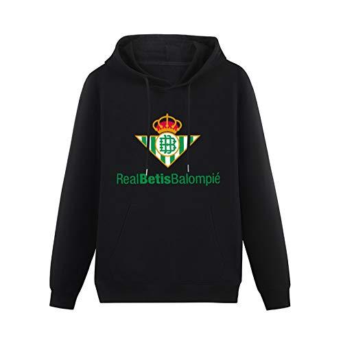 LongSleeveHoodedSweatshirt Real Betis Custom Cool Cotton Blend HoodyBlack3XL