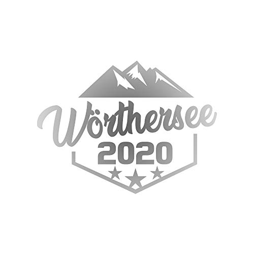 XF-Projects Wörthersee Tour 2020 Emblem Sticker | Tuning Aufkleber Autoaufkleber Decal (Silber)