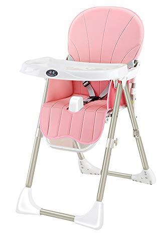 Silla Alta para Bebés Silla para Niños Pequeños Plegable Y Portátil con Altura Ajustable Pink