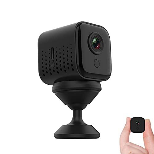 Mini-camera, wifi, bewaking, mini-camera, HD, 1080P, draagbaar, micro-spy-camera, draadloos, WLAN, Nanny Cam, bewaking met nachtzicht, bewegingsmelder
