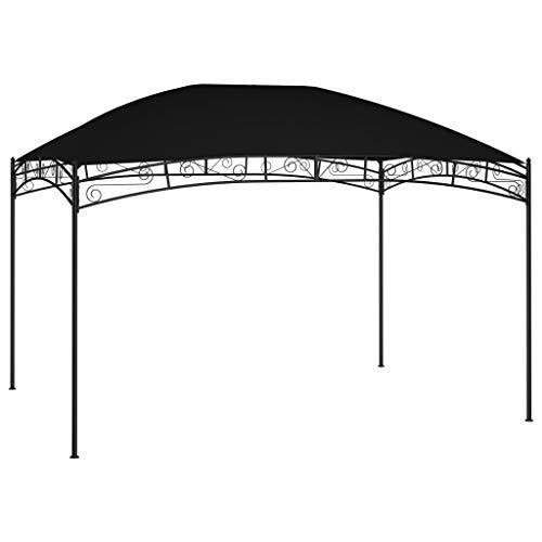vidaXL Cenador de Jardín Toldo Parasol Marquesina Pabellón Carpa Gazebo Aire Libre Terraza Exterior Fiestas Eventos Gris Antracita 4x3 m 180 g/m²