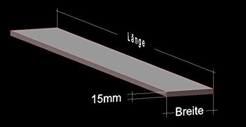 Alu Flachstange 40 x 15 mm Länge: 50 / 100 / 150 / 200 cm Aluminium AlMgSi0,5 Profil Aluprofil Flachmaterial (50 cm (19,44 €/m))