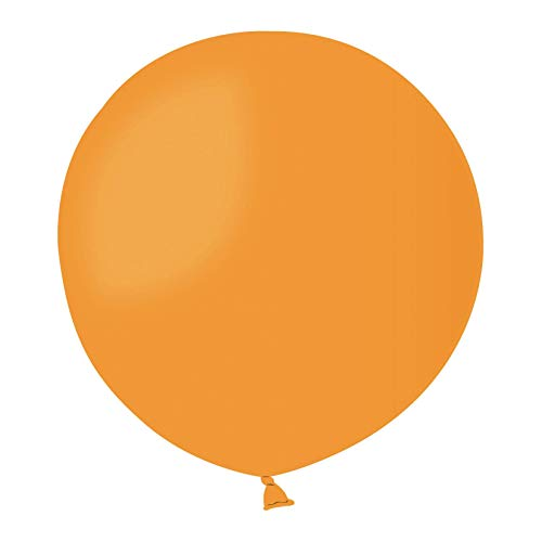 Globos Latex Redondos Gigantes 80cm Pastel Naranja PL04