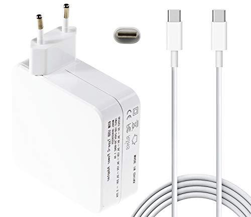 65W/61W Adaptador de Corriente USB C Cargador Compatible con MacBook Pro 13 Pulgadas 2016 /2017 /2018, A1706 /A1707 /A1708 /A1534; Lenovo ThinkPad, Chromebook, HP, DELL, Xiaomi Air, HUAWEI, SA