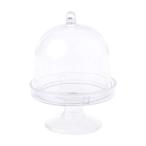 ZZALLL Mini Soporte para Tartas, Caja para Cupcakes, Favor de la Boda, Caja de Dulces de plástico para Fiestas, decoración de cumpleaños Transparente para Baby Shower