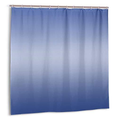 kThrones Cortina de baño,Impermeable,Azul Degradado,Cortina de Ducha de con Ganchos 150cmx180cm