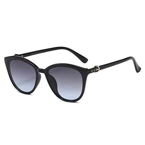 YDDLIE Gafas de sol de ojo de gato Gafas de sol de mujer Gafas de plástico Marco transparente Pantalla de lente uv400 Conducción de moda