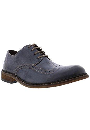 Fly London Hugh933fly, Zapatos de Cordones Brogue Hombre, Azul (Jeans 013), 44 EU