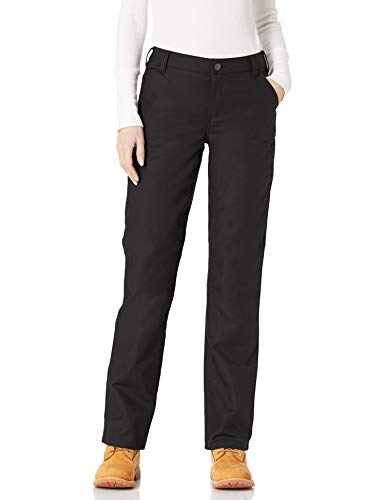 Carhartt Women's Original Fit Rugged Professional Pant, Black, 14 Short