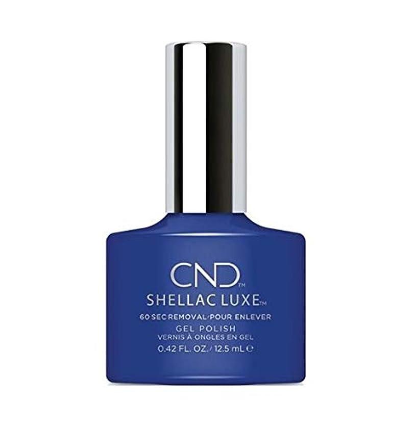 ノート優雅なアフリカCND Shellac Luxe - Blue Eyeshadow - 12.5 ml / 0.42 oz