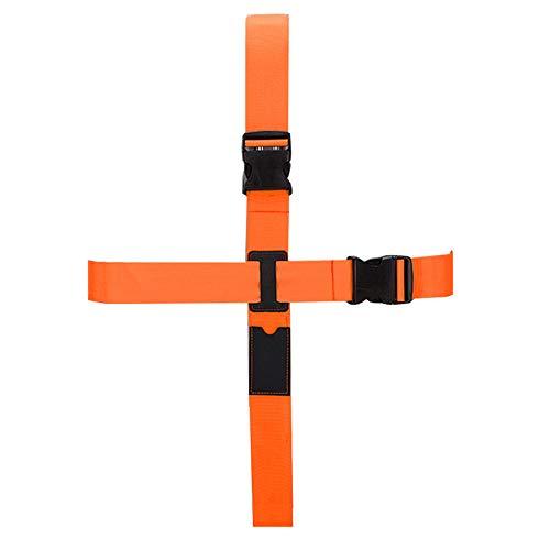 BlueCosto Long Cross Luggage Straps Suitcase Strap Travel Belts - Orange