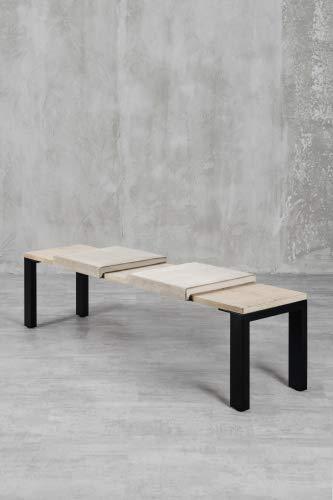 carla&marge Klemm-Kissen Sense - 2er Set - 44x6x44 cm - weiches Sitz-Kissen, Samtkissen für Sitzbanktiefe 40 cm - Farbe: Beige