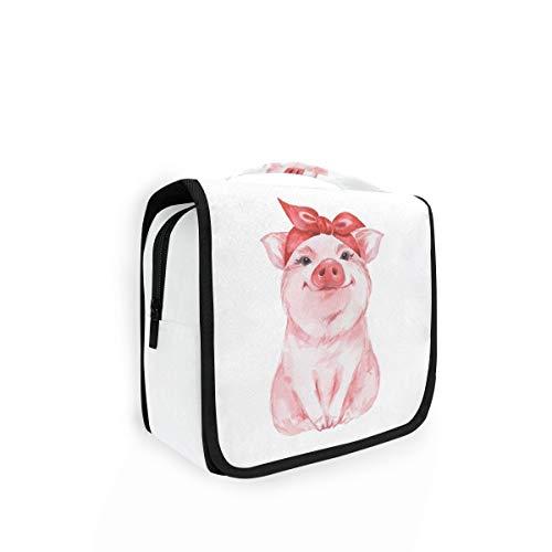 XIXIKO divertido animal cerdo llevando bandana colgante neceser viaje lavado bolsa organizador...