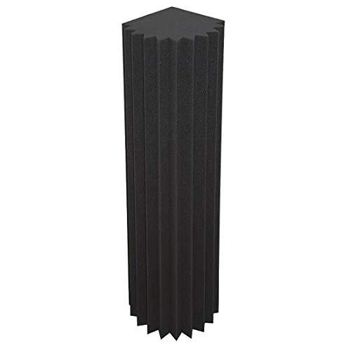 Pyra Bass-Trap/Absorberelement 100 cm Höhe, Front mit Lamellen Profil 100x21x21cm, anth/schwarz