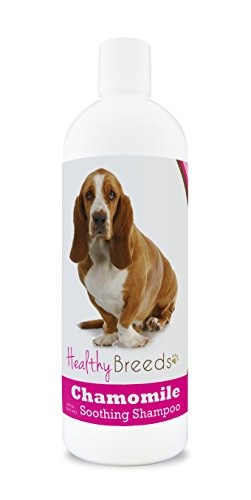Healthy Breeds Chamomile Dog Shampoo & Conditioner with Oatmeal & Aloe for Basset Hound - OVER 200 BREEDS - 8 oz - Gentle for Dry Itchy Skin - Safe with Flea and Tick Topicals