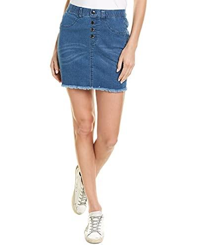 Hue Women's Denim Jean Skirt, Medium Wsh, Extra Large