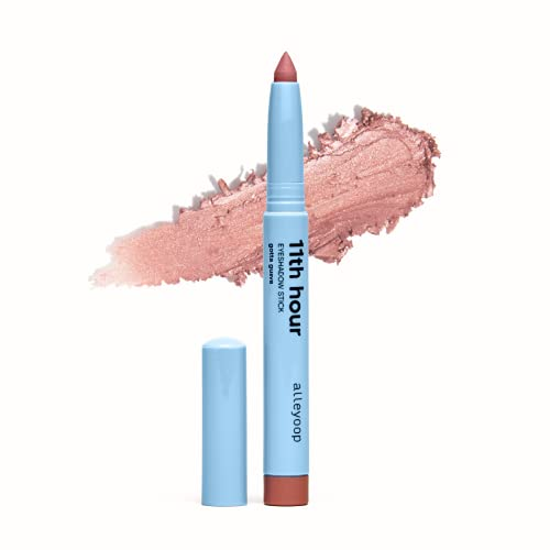 Alleyoop 11th Hour Cream Eyeshadow Sticks - Gotta Guava (Shimmer) - Award-winning - Smudge-proof and Crease Proof for Over 11 Hours - Easy-To-Apply and Compact for Travel - Cruelty-Free, and Vegan