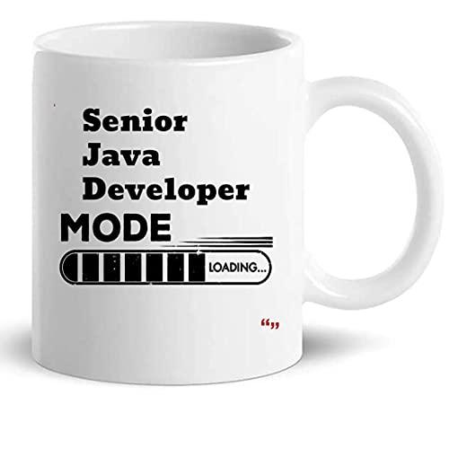 Senior Java Developer Copa taza de café 11oz - Colega regalo de cumpleaños para Hombres Mujeres