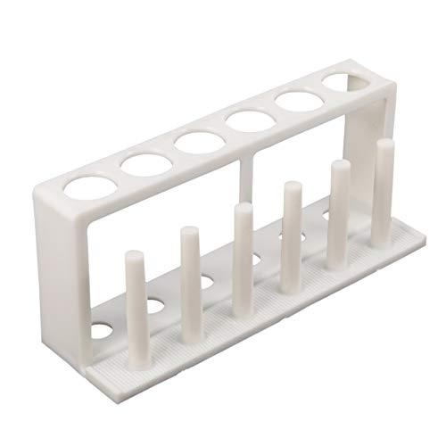 Balacoo Reagenzglasgestell Reagenzglasstift Wäscheständer Hält Kunststoff Reagenzglas Gewürzregal Stift Displayständer für Fläschchen Flaschen Zahnbürste Rasierer (Weiß)