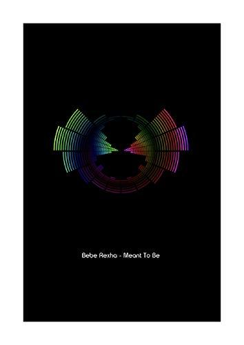 Bebe Rexha Meant to Be - Impresión vectorial de ondas de sonido - tamaño A4
