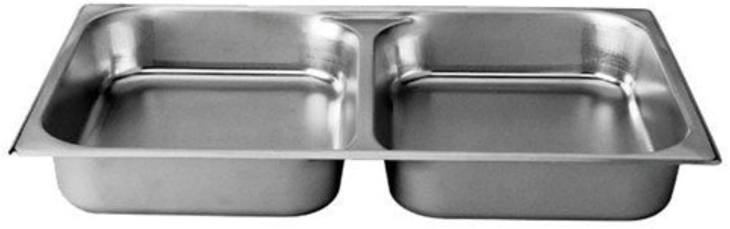 Divided Full Size Stainless Steel Food Pan 2 1 2 Inch Deep