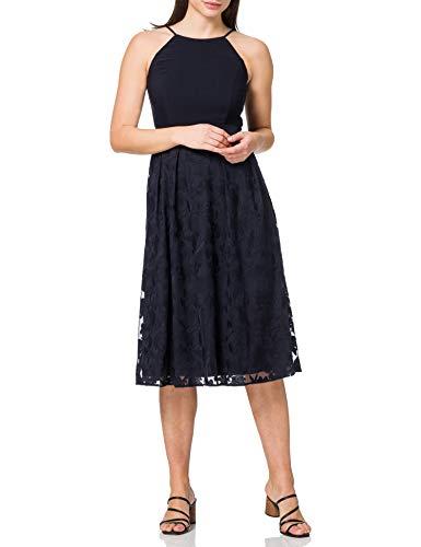 ESPRIT Collection Damen 021EO1E325 Kleid, 400/NAVY, 38