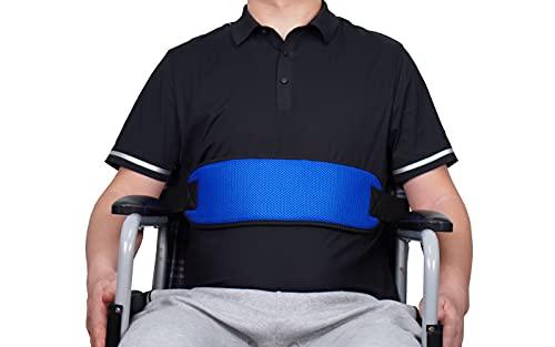 Vermegel Wheelchair Safety Seat Restraints Belt, Adjustable Harness Chair Waist Lap Strap Care for Patients and Elderly(Blue)