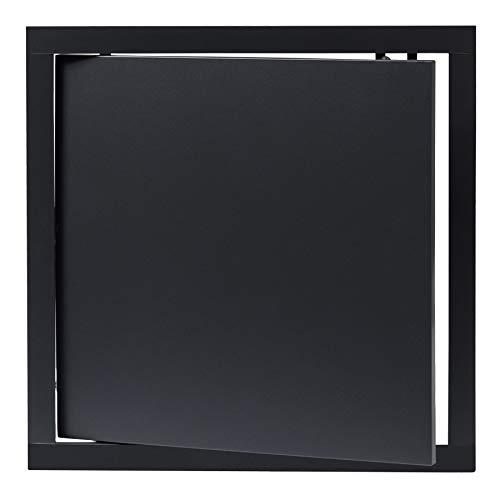 300x300 mm Revisionsklappe Anthrazit Revisionstür Wartungstür Inspektionsklappe aus Kunststoff 30x30 cm