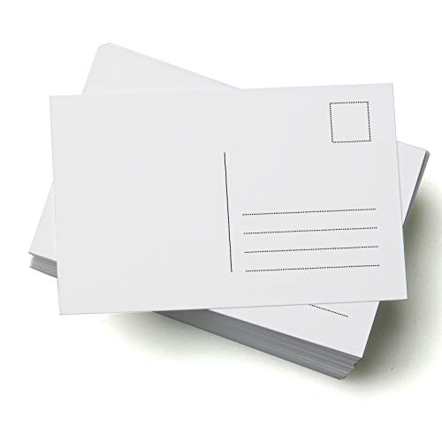 50 Blank Postcards, A6 350gsm Card, Perfect for Craft Projects and for...