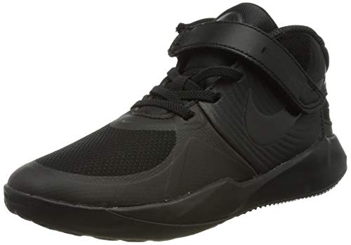 Nike Team Hustle D 9 FLYEASE (PS), Zapatillas de bsquetbol, Black Black Dk Smoke Grey Volt, 33 EU