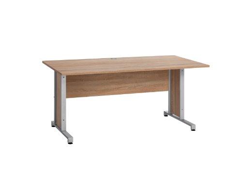 MAJA-Möbel 1221 8825 Schreibtisch, Sonoma-Eiche-Nachbildung, Abmessungen BxHxT: 160 x 75 x 80 cm