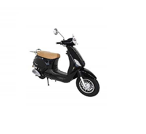 KEN ROD Moto Scooter 125 CC   Moto Gasolina Adultos   Ciclomotor Gasolina   Moto Gasolina 4 Tiempos   Scooter Gasolina   Incluye Matriculación (negro)